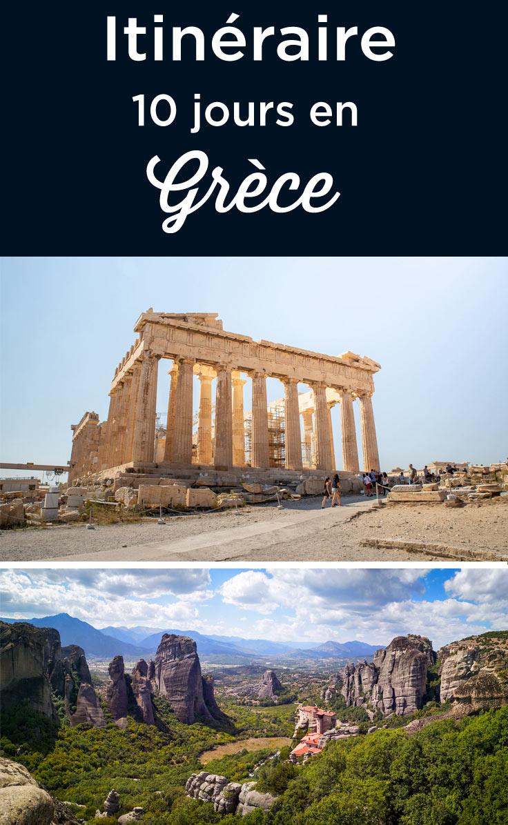itinéraire 10 jours en Grèce