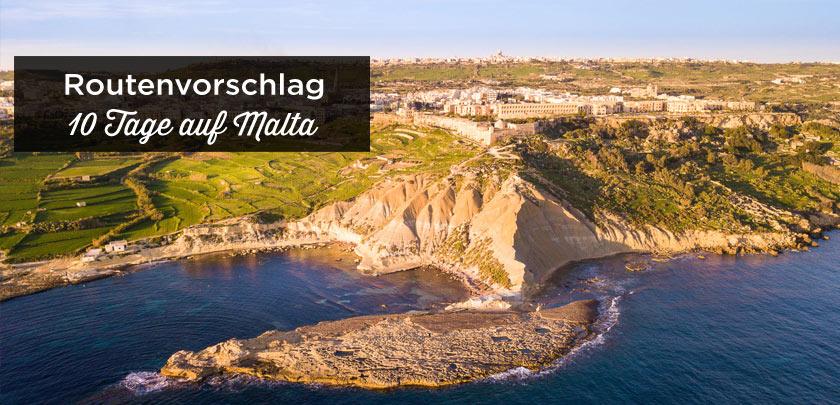 Malta Reiseroute 10 tage